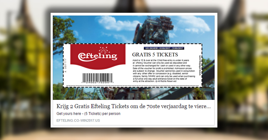 Facebookers Trappen Massaal In Neppe Efteling Actie Wnl