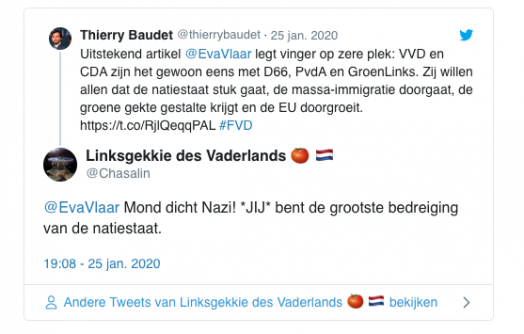 SP-leider groningen noemt Eva Vlaardingerbroek een nazi